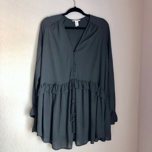 Dark Gray Long Sleeved H&M Dress